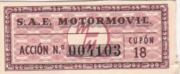 01329 Acciones S.A.E MOTORMOVIL - Automovilismo