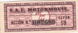01330 Acciones S.A.E MOTORMOVIL - Automovilismo