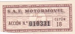 01331 Acciones S.A.E MOTORMOVIL - Automovilismo
