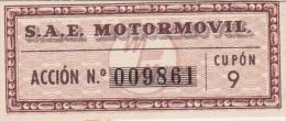 01333 Acciones S.A.E MOTORMOVIL - Automovilismo