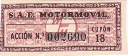 01335 Acciones S.A.E MOTORMOVIL - Automovilismo