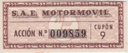 01338 Acciones S.A.E MOTORMOVIL - Automovilismo