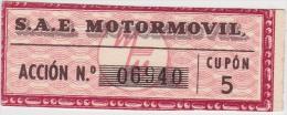 01339 Acciones S.A.E MOTORMOVIL - Automovilismo