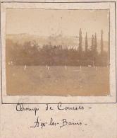 A - 2 Photos Stereoscopiques 40x45mm Vers 1900. Aix Les Bains Savoie France. Champ De Courses - Cornin - Photos Stéréoscopiques