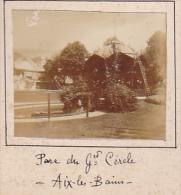 B - 2 Photos Stereoscopiques 40x45mm Vers 1900. Aix Les Bains Savoie France. Etablissement Thermal - Parc Grand Cercle - Photos Stéréoscopiques