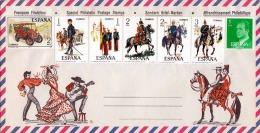 1978 SPANIEN, 7 Fach Frankierung ** Auf Schmuck-Brief - Spanien