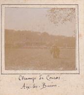 I- 2 Photos Stereoscopiques 40x45mm Vers 1900. Aix Les Bains Savoie France. Champ De Courses . Tribunes - Photos Stéréoscopiques