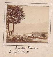 J- 2 Photos Stereoscopiques 40x45mm Vers 1900. Aix Les Bains Savoie France. Petit Port + Versailles Rémouleur - Photos Stéréoscopiques