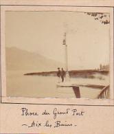 L- 2 Photos Stereoscopiques Stereo 40x45mm Vers 1900. Aix Les Bains Savoie France. Phare Grand Port - Lac Bourget - Photos Stéréoscopiques