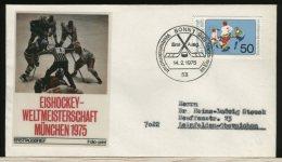 GERMANY  -  FDC  -  HOCKEY  SU  GHIACCIO  -  Campionati Del Mondo  '75 - Hockey (su Ghiaccio)