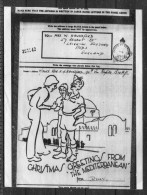 Christmas 'Greetings From The Mediterranean' Airgraph - Leeds - 1939-45