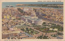 C1940 CUBA HABANA VISTA PARCIAL DESDE UN AVION - Cartes Postales