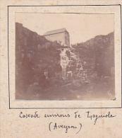 P- 2 Photos Stereoscopiques Stereo 40x45mm Vers 1900. Laguiole Aveyron France -cascade Environs - Photos Stéréoscopiques