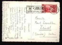 1951 - CARTOLINA  CON  BEL TIMBRO A TARGHETTA  E £35  ITALIA AL LAVORO (5) - 6. 1946-.. Repubblica