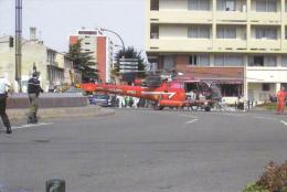 CPM CATASTROPHE AZF TOULOUSE 21 SEPTEMBRE 2001 EXPLOSION HELICOPTERE SECOURS 1/8 - Catastrofi