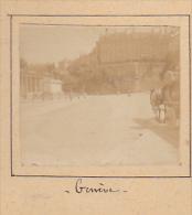 Z- 2 Photos Stereoscopiques Stereo 40x45mm Vers 1900. SUISSE, Geneve Attelage - Evian Les Bain, Lac De Geneve - Photos Stéréoscopiques