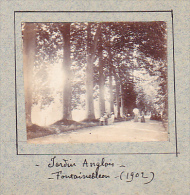AB- 2 Photos Stereoscopiques Stereo 40x45mm Vers 1900. Fontainebleau Chateau France -jardin Anglais, Franchard - Photos Stéréoscopiques