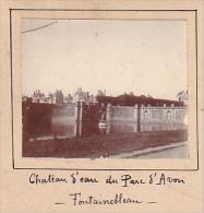 AC- 2 Photos Stereoscopiques Stereo 40x45mm Vers 1900. Fontainebleau Chateau France -parterre, Chateau D'eau Parc D'Avon - Photos Stéréoscopiques