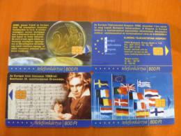 Hungary: Eu Puzzle 4 Pcs (flag, Coin, Beethoven, ..) - Télécartes