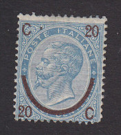 Italy, Scott #34a, Mint Hinged, King Victor Emmanuel II Surcharged, Issued 1865 - 1861-78 Vittorio Emanuele II