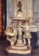 Roma - Cartolina ACQUASANTIERA (P. Galli), San Pietro, Città Del Vaticano - PERFETTA F70 - Sculptures