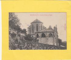 CPA - 54 - BRULEY - Rosaire Et Chevet De L'église- Vignoble Côtes De Toul - Francia