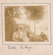 AD- 2 Photos Stereoscopiques Stereo 40x45mm Vers 1900. Chatou Yvelines France -La Berge, Emile Jeanne Maurice - Photos Stéréoscopiques