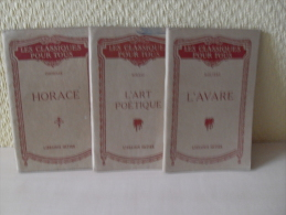 3 Revues Horace - L'Avare - L'Art Poétique - Librairie Hatier - Livres, BD, Revues