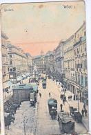 AK WIEN GRABEN Die Pferdebahn  ODOL Straßenbahn  OLD POSTCARD 1908 - Prater