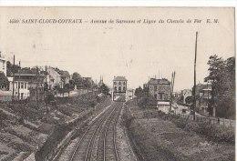 92 SAINT CLOUD Coteaux  Ligne Du Chemin De FER Av De Suresnes  Maisons Et Jardins Ouvriers Le Long Des Voies 1930 - Saint Cloud