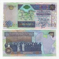 Libya 20 Dinars 1999 Pick 67 Xf - Libia