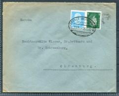 1932 Germany Bremen - Wilhelmshaven Railway Bahnpost Brief - Deutschland