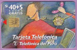 Pérou  °  40 + 5 Soles  Gem  °  5 Soles  Gratis   02/1998   ***   LUXE - Pérou