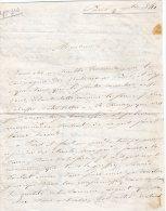 VP409 - PARIS 1841 - Lettre De Mr DELANDINE  De SAINT / ESPRIT à Me BURDEL à LAGNY - Manuscripts