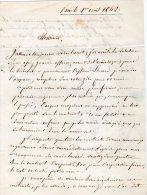 VP410 - PARIS 1842 - Lettre De Mr DELANDINE De SAINT / ESPRIT Pour Me BURDEL De LAGNY - Manuscripts