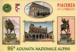 86ª Adunata Nazionale Alpini Piacenza 12 Maggio 2013  Annullo Filatelico PT ANA - Cartoline Maximum