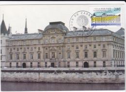Carte Maximum FRANCE  N°Yvert 2886  (Cour De Cassation) Obl Sp Ill 1er Jour Paris - 1990-99
