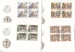 LIECHTENSTEIN 780-783, Je 4erBlock Auf Brief FDC, Burg Gutenberg - FDC