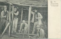 NOS CHARBONNAGES, PLACEMENT DE BOIS DE VOIES AU FOND - Mines