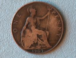 Grande-Bretagne 1 Penny 1907 - 1902-1971 : Monnaies Post-Victoriennes