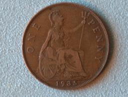 Grande-Bretagne 1 Penny 1935 - 1902-1971 : Monnaies Post-Victoriennes