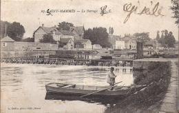Cpa, St Mammès, Le Barrage, Barque De Pêcheur - Saint Mammes