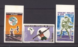 Benin  -  1977  :  Yv  397-99  **  Non Dentelé , Sport - Benin – Dahomey (1960-...)