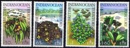 BRITISH INDIAN OCEAN TERR. (BIOT): Mi #78-81 Flora: Flowers, Trees / Fleurs, Arbres (1975) MNH ** / Neufs ** - Territoire Britannique De L'Océan Indien
