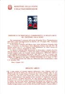 ITALIA  1961 - Bollettino Ufficiale P-TT.   - (italiano-francese) - Ippolito Nievo - Paquetes De Presentación