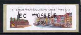 ATM-LABEL LISA 2 :  ECOPLI 0,56 €  - PARIS/Danemark  6 Au 9 Novembre 2013 - 2010-... Abgebildete Automatenmarke
