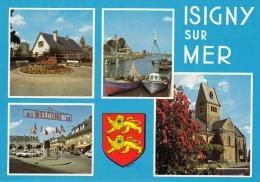 Thematiques 14 Calvados Isigny Sur Mer Multivues L'Eglise Le Pressoir La Place Le Port  Armoieries - Other Municipalities