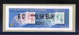 ATM-LABEL LISA 2  - ECOPLI 0,56 €  - PARIS/Marianne Ciappa/Kawena  6 Au 9 Novembre 2013 - 2010-... Abgebildete Automatenmarke