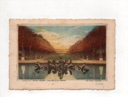 (78) VERSAILLES - Bassin D'Apollon Tapes Vert Et Le Chateau -eau Forte Originale. - Versailles