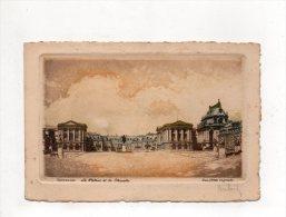 (78) VERSAILLES - Le Palais Et La Chapelle -eau Forte Originale. - Versailles